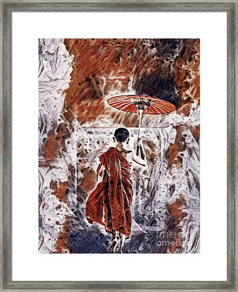 Buddhist Monk Framed Print