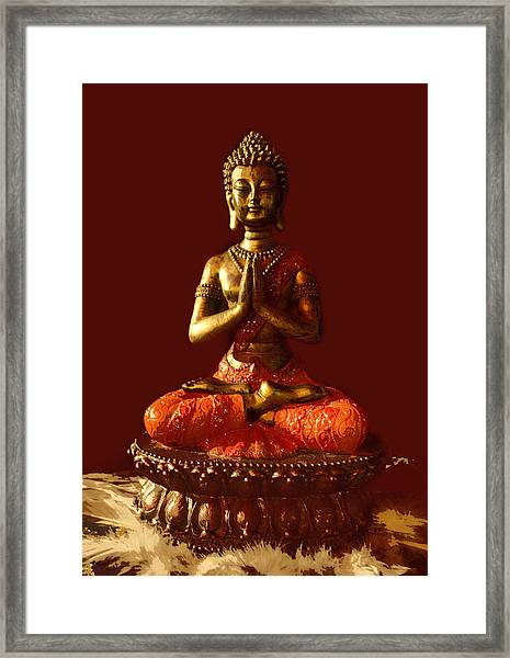 Buddhist Statue  Framed Print