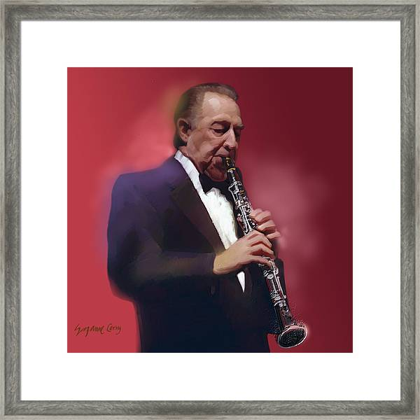 Buddy Defranco Clarinet Framed Print
