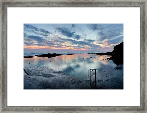 Bude Seapool Cornwall Framed Print