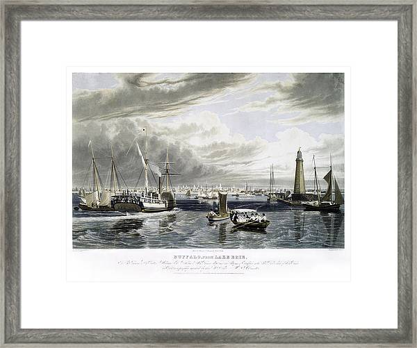 Buffalo From Lake Erie Framed Print