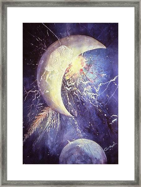 Buffalo Half-moon Framed Print