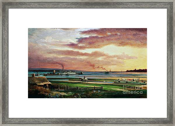 Buffalo Harbor From The Foot Of Porter Avenue, 1871 Framed Print