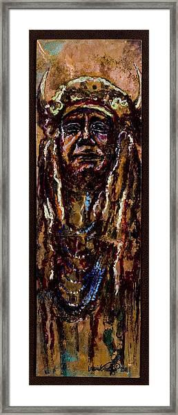 Buffalo Headdress Framed Print