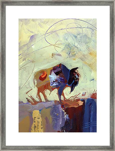 Framed Print featuring the painting Buffalo IIi by Shelli Walters