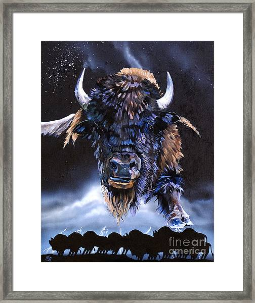 Buffalo Medicine Framed Print