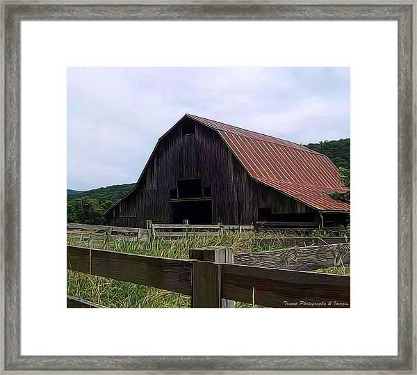 Buffalo River Barn Framed Print
