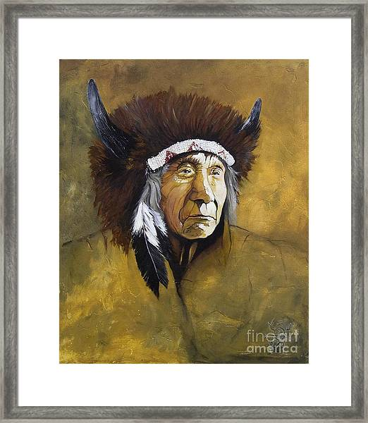 Buffalo Shaman Framed Print