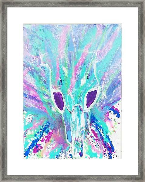 Buffalo Skull  Framed Print