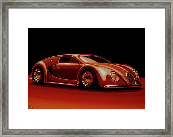 Bugatti Veyron 'beetgatti' 1945 Painting Framed Print