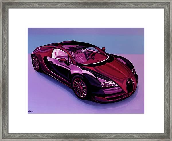 Bugatti Veyron 2005 Painting Framed Print
