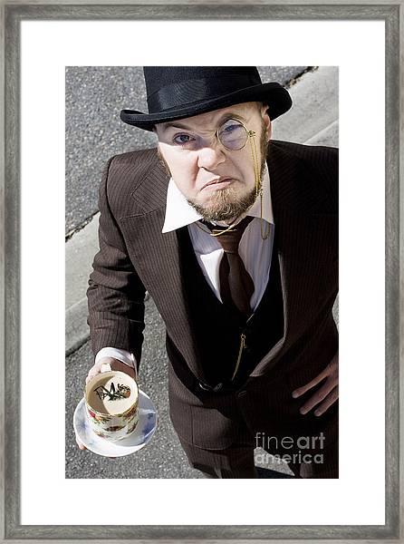 Bugged Man Framed Print