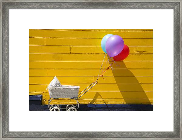 Buggy And Yellow Wall Framed Print