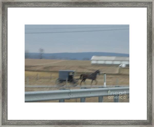 Buggy Ride Three Framed Print