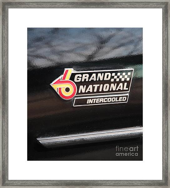 Buick Grand National Emblem Framed Print