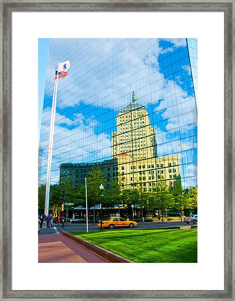 Building In Building Framed Print by Andrew Kubica