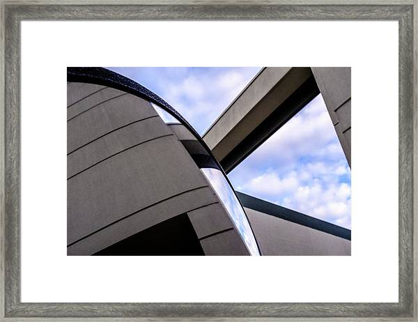 Buildings And Shapes With A Blue Sky In Orlando Florida Framed Print