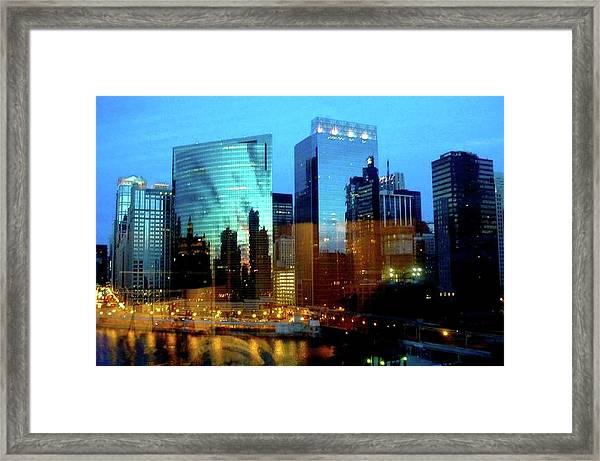 Reflections On The Canal Framed Print