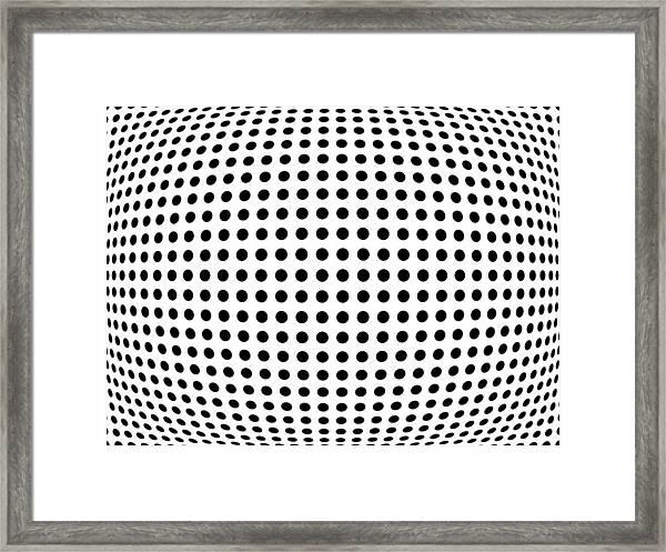 Bulge Dots Framed Print
