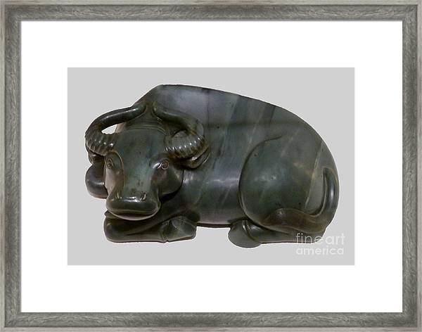 Bull Figure Framed Print