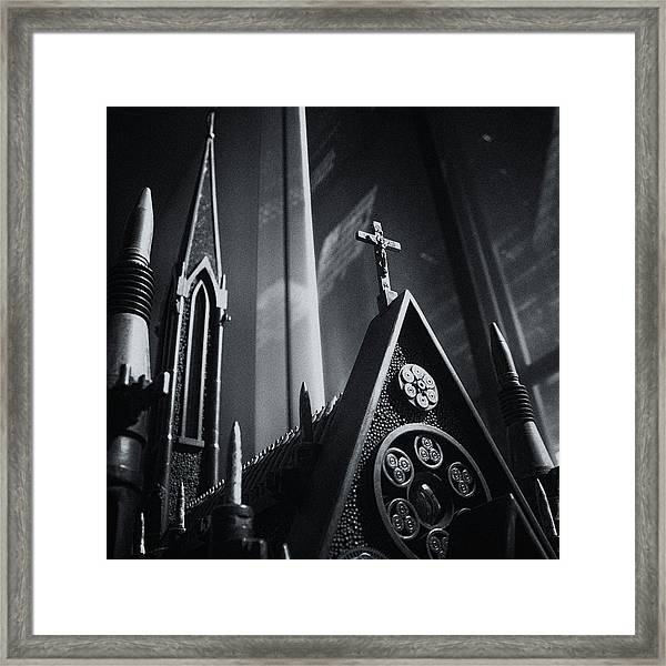 Bullet Church Framed Print