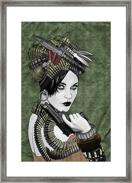 Bullets Is My Business Framed Print