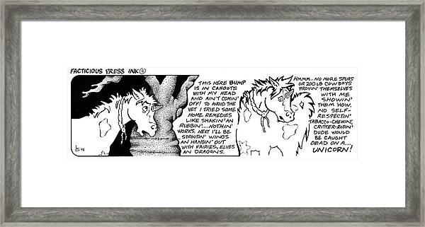 Bump Fpi Cartoon Framed Print