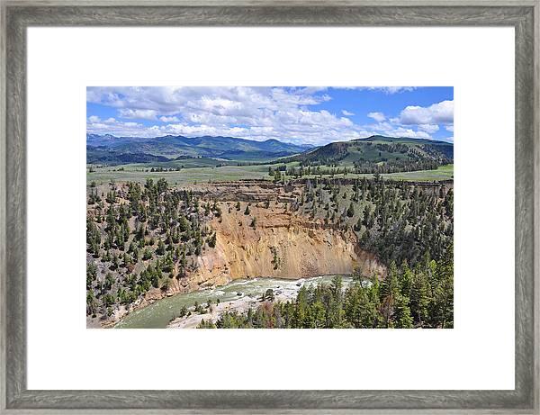 Bumpus Butte Yellowstone Framed Print