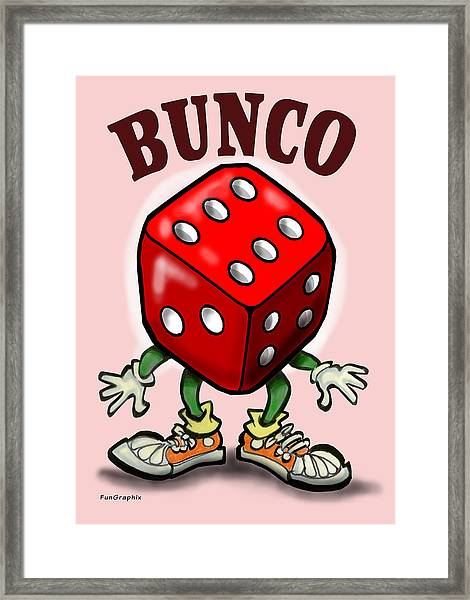 Bunco Framed Print