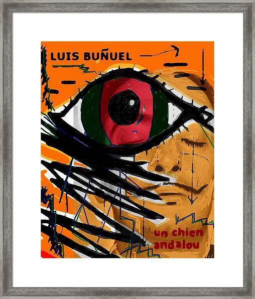 Bunuel Chien Andalou Poster  Framed Print