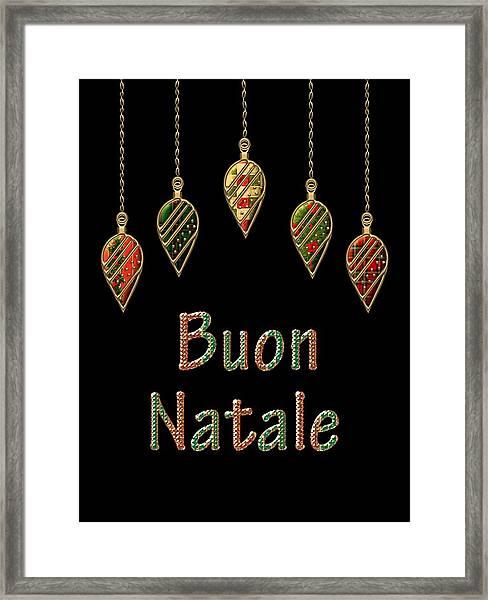 Buon Natale Italian Merry Christmas Framed Print