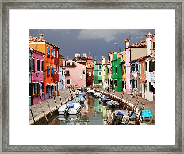 Burano Colours Framed Print