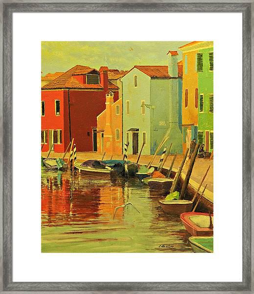 Burano, Italy - Study Framed Print