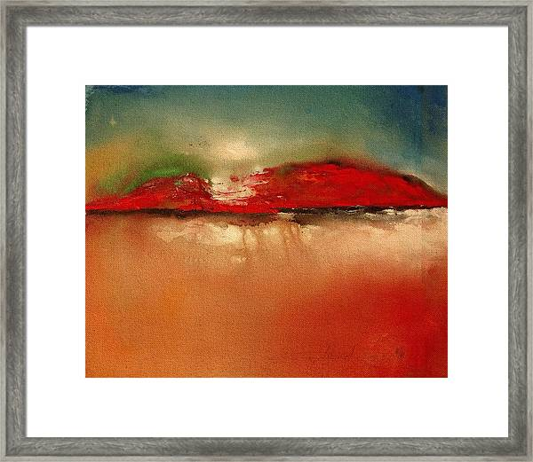 Burgundy Mountain Framed Print