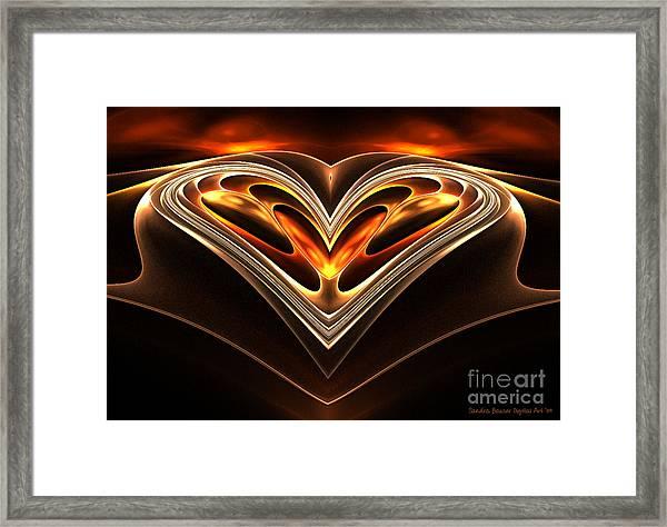 Burning Desire Framed Print by Sandra Bauser Digital Art