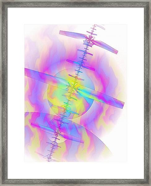 Burning Sensations Framed Print