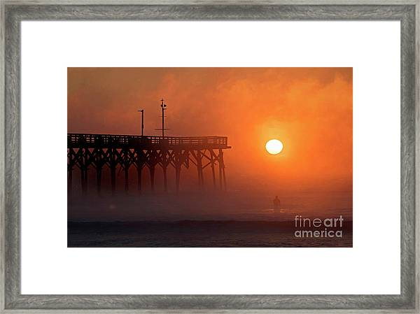 Framed Print featuring the photograph Burning Through by DJA Images
