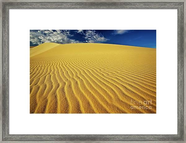 Burning Up At The White Sand Dunes - Mui Ne, Vietnam, Southeast Asia Framed Print