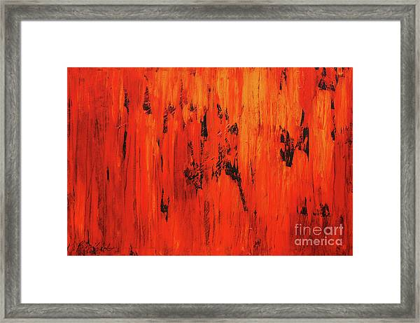 Burning Wall Of Flames Framed Print