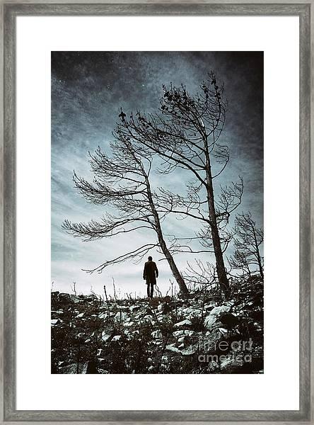 Burnt Land Framed Print