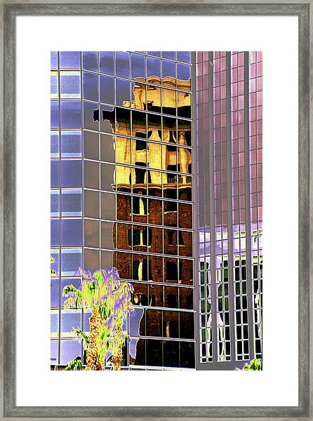 Burnt Out Reflection Framed Print