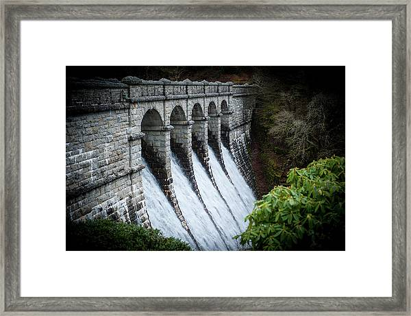 Burrator Reservoir Dam Framed Print