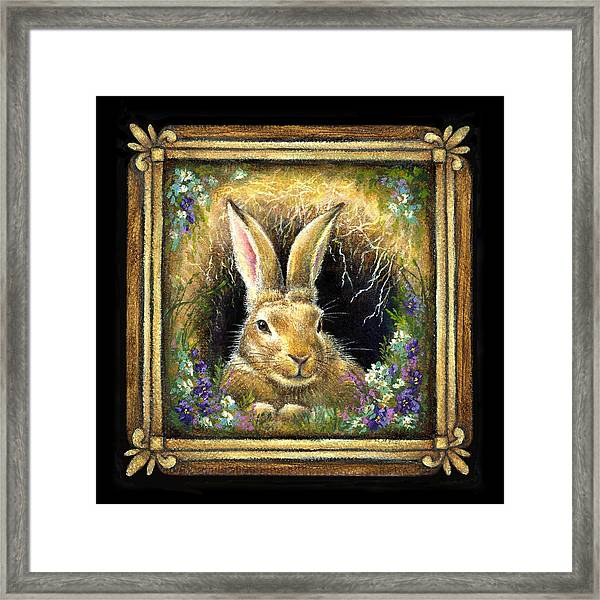 Burrowing Into Tranquility Framed Print