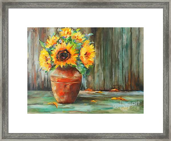 Bursts Of Sunshine Framed Print