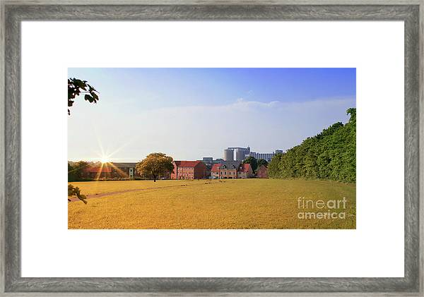 Bury St Edmunds Scene Framed Print