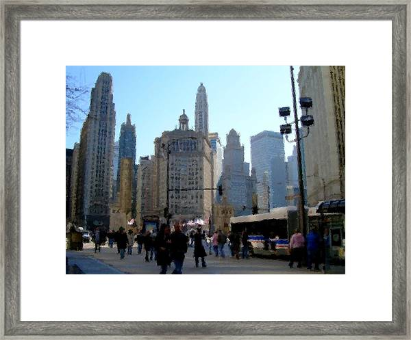 Bus On Miracle Mile  Framed Print