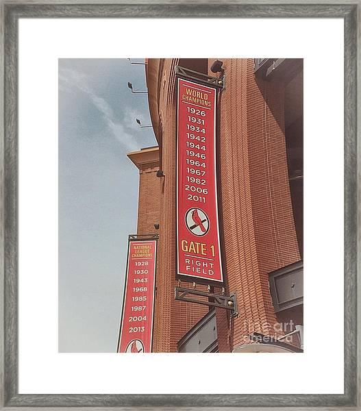 Busch Stadium - Cardinals Baseball Framed Print