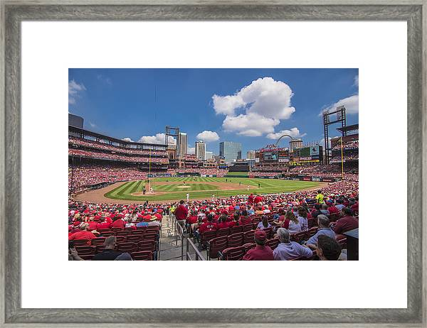 Busch Stadium St. Louis Cardinals Cardinal Nation Ballpark Village Day #2a Framed Print