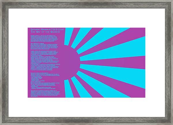 Bushido Warrior 7-5-3 Code The Way Of The Warrior 10a Framed Print