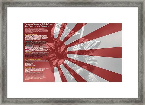 Bushido Warrior 7-5-3 Code The Way Of The Warrior 4 Framed Print